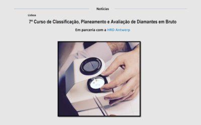 7º Curso de Classificação, Planeamento e Avaliação de Diamantes em Bruto