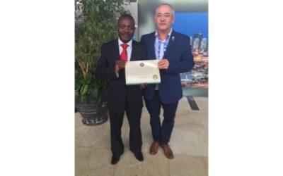 João Leitão, Presidente da Bolsa de Diamantes em Bruto de Lisboa esteve presente na Reunião Plenária do Processo Kimberley, em Luanda.