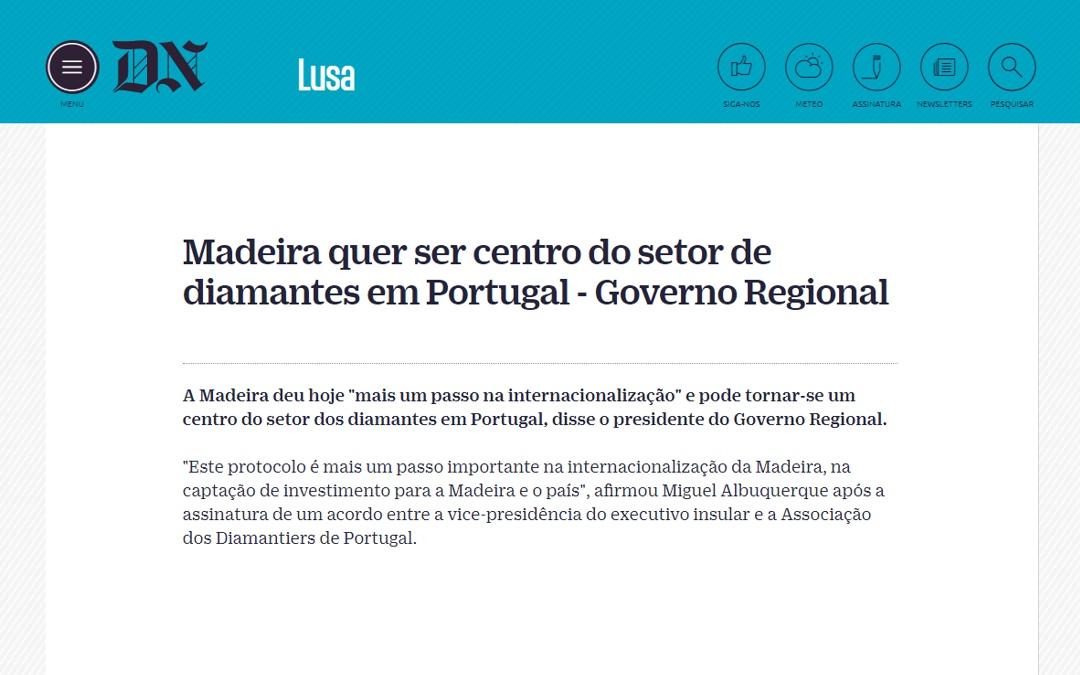 Madeira quer ser centro do setor de diamantes em Portugal – Governo Regional